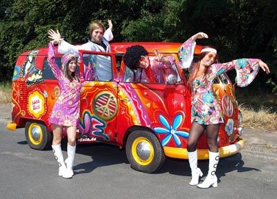 Kleidung der hippie zeit