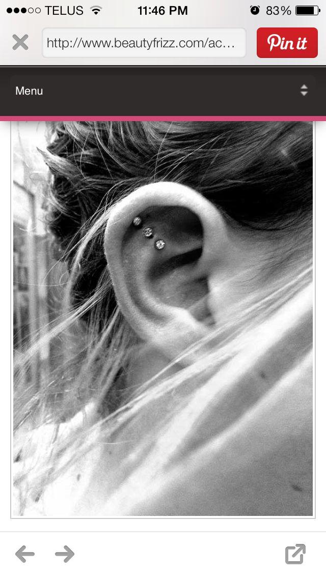 These ear piercings