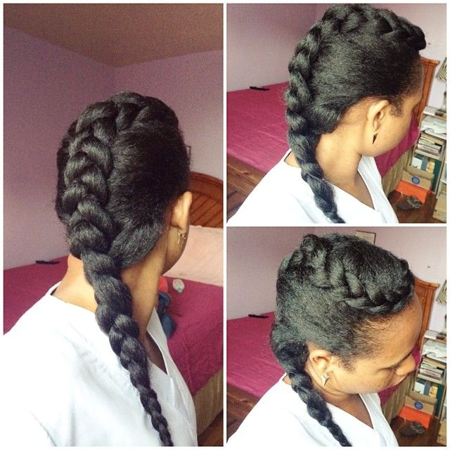 Simple And Pretty Style @curlygirlmomo | Jumbo braids, Kid ...