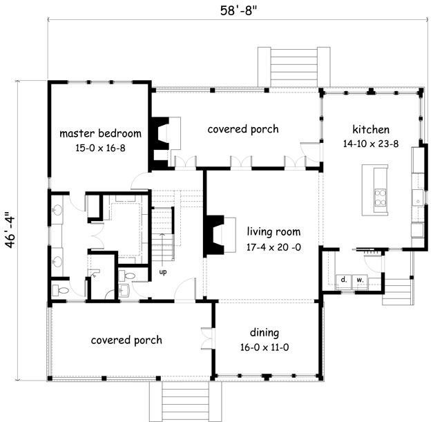 Fabulous floor plan. Just needs a dining room.
