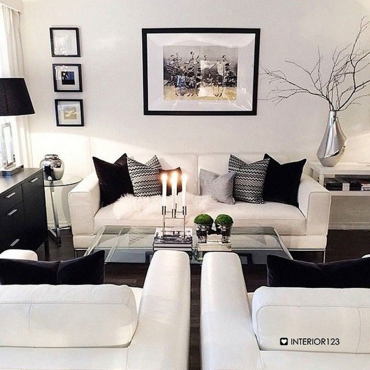 Merveilleux Wonderful Black White Decoration Idea 53. Black And White Living Room ...
