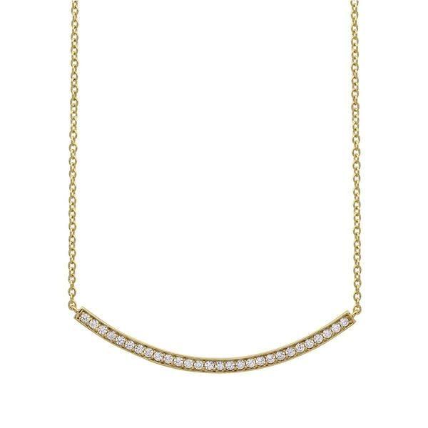 CRISLU Gold Vermeil Bar Necklace