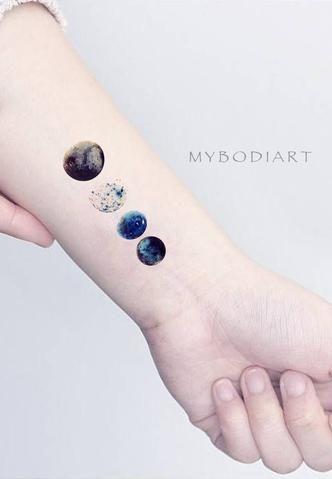 ff8967ffc Watercolor Cool Moon Phases Wrist Tattoo Ideas for Women - cool moon tattoo  ideas for women - Ideas de tatuaje de luna fresca para mujeres - www.