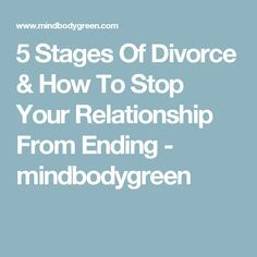 what are the stages of grief when a relationship ends