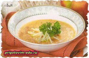 Суп из тыквы и яблок