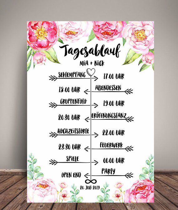 Tagesablauf Hochzeit Plan Ubersicht Fur Die Gaste Pfuingstrosen Wedding Favors Wedding Favor Tags Best Wedding Gifts