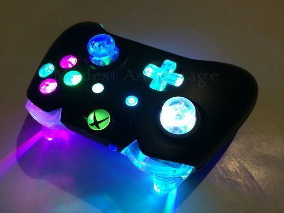 Xbox One Controller Full Color Changing Led Mod By Abxymod Xbox One Controller Full Color Xbox One Controller Custom Xbox One Controller Nintendo Wii Console