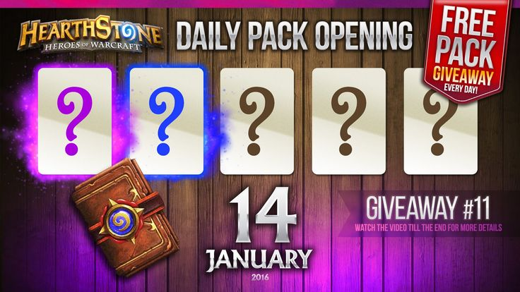 FREE Pack Giveaway #11 / 1 Epic & 1 Rare Cards! Hearthstone Packs Openin...