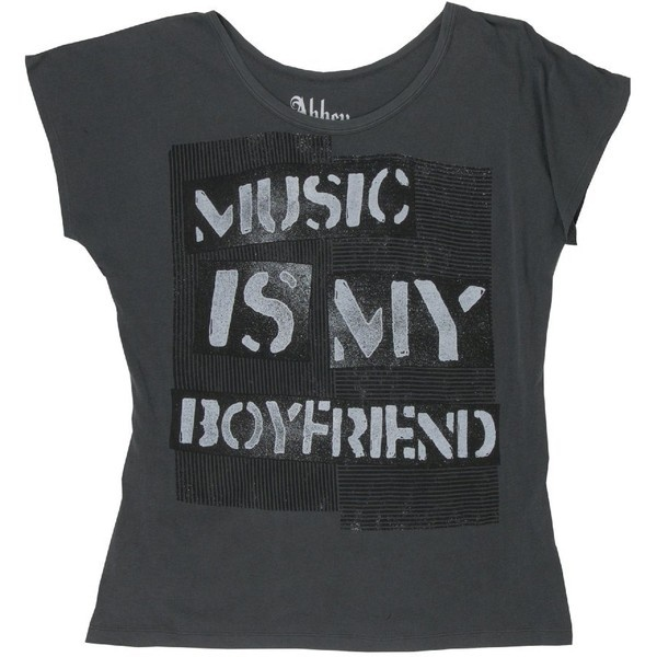 Abbey Dawn Music Boyfriend Oversize Top Junior ($39)..ugh i wld kill a few ppl for this amazingness