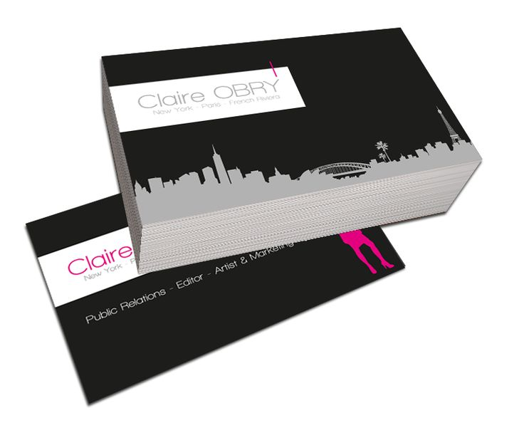 Cartes de visite Claire Obry