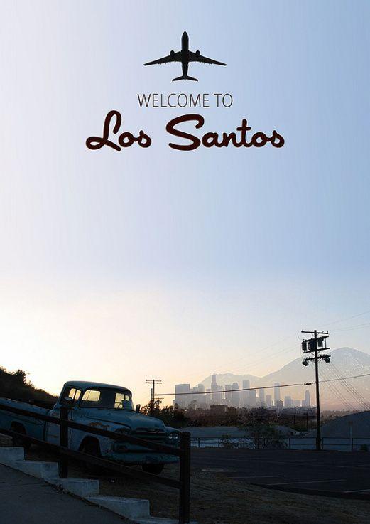 GTA 5 Los Santos Poster by Jason W Stanley via www.creativejuus.com