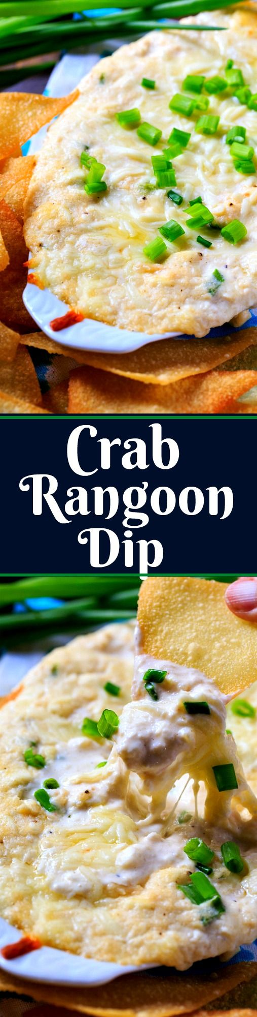 Crab Rangoon Dip with Crispy Wonton Chips