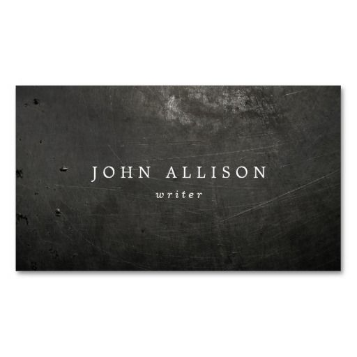 68 best authors and writers business cards images on pinterest cool rustic guys black scratched metal business card reheart Images