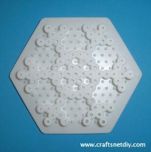 Hama Perler snowflake patterns. Christmas crafts from www.craftsnetdiy.com