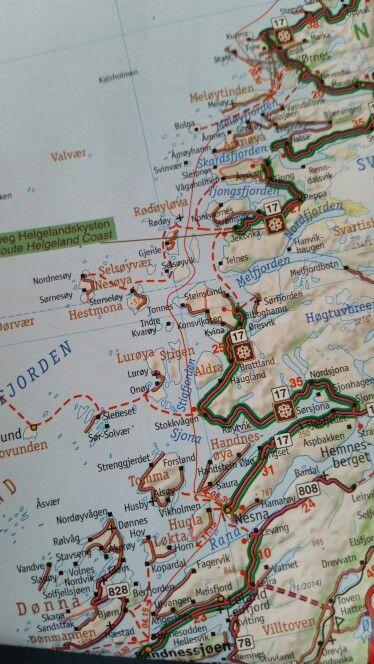Helgelandskysten rute