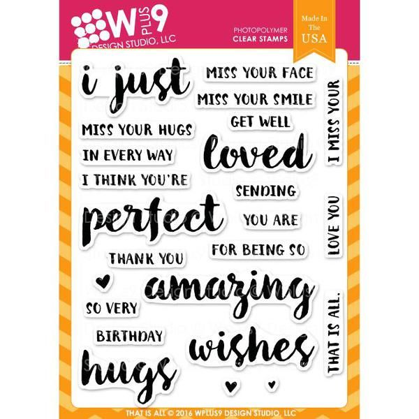 Ellen Hutson, LLC features WPlus9 Design Studio Clear Stamps, That is All.