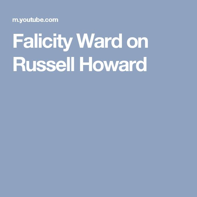 Falicity Ward on Russell Howard