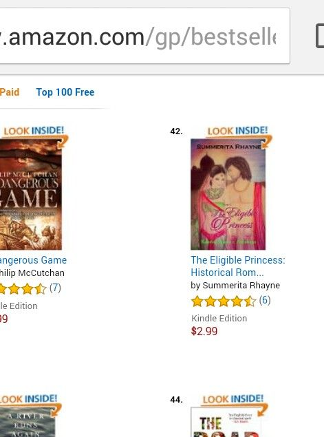 In top 100 Amazon bestsellers in Indian historic category http://www.amazon.com/Eligible-Princess-Lakshaya-Kamboj-Princesses-ebook/dp/B00Z09FAQA