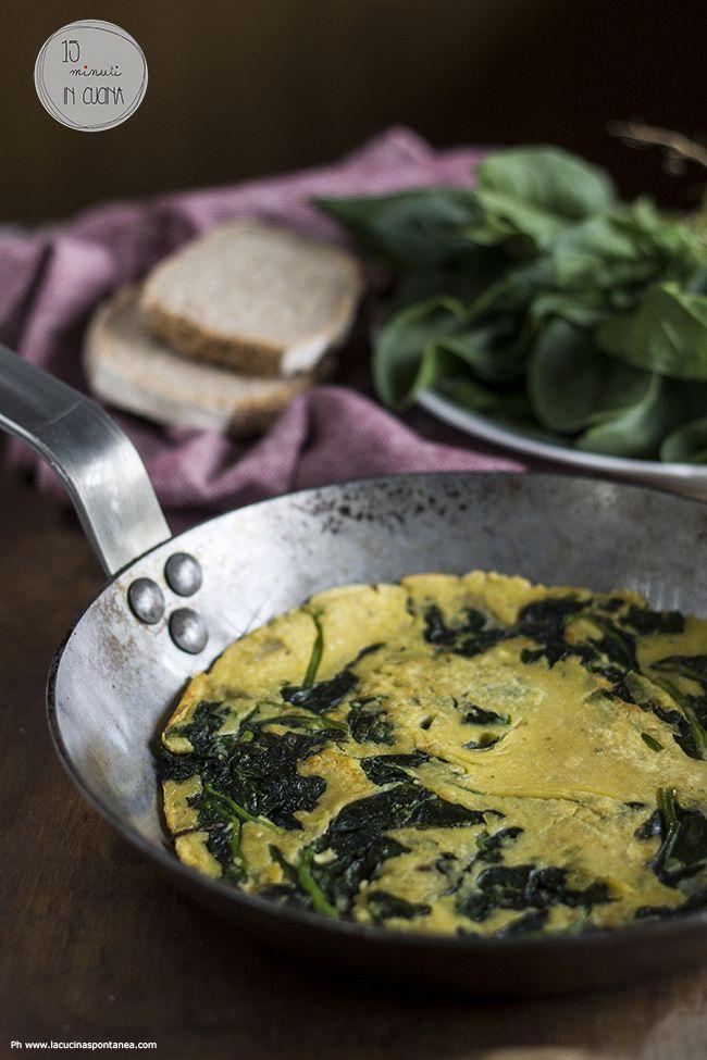 15 minuti in cucina: finta frittata con farina di ceci e spinacini #veg #vegan #recipe