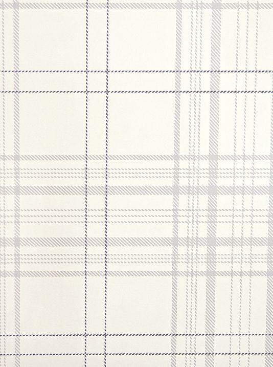 Rakel Plaid Wallpaper Off white and grey plaid wallpaper