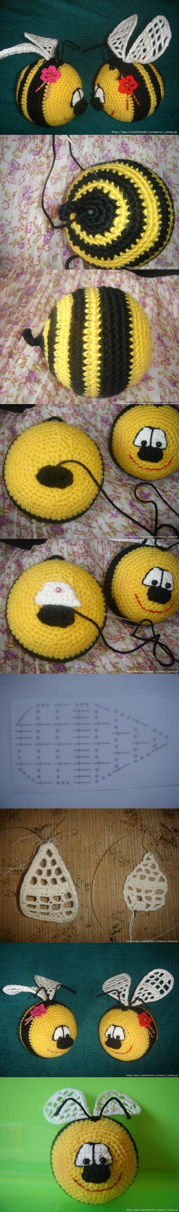 DIY Crochet Smiley Bee DIY Crochet Smiley Bee