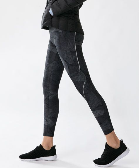 Legging rayas negro - Novedades - Tendencias AW 2016 en moda de mujer en Oysho online: ropa interior, lencería, ropa deportiva, pijamas, moda baño, bikinis, bodies, camisones, complementos, zapatos y accesorios.