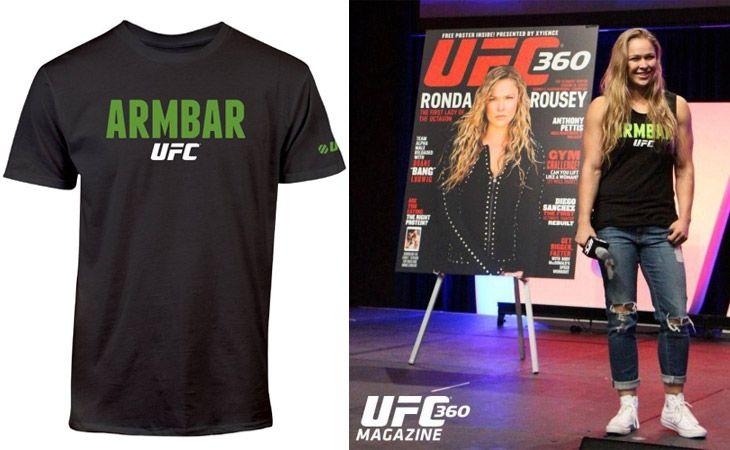 UFC Ronda Rousey Armbar Shirt - Black at http://www.fighterstyle.com/ufc-ronda-rousey-armbar-shirt/