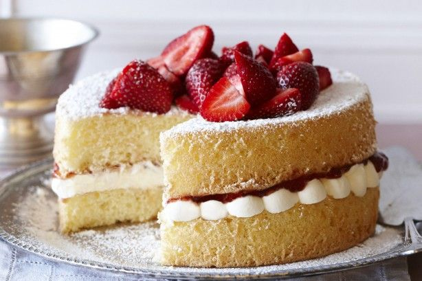 The name says it all! Try this quick and easy sponge layered with strawberry jam and cream.
