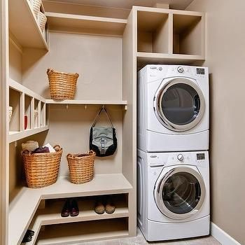 Stacked Washer and Dryer, Transitional, laundry room, HGTV