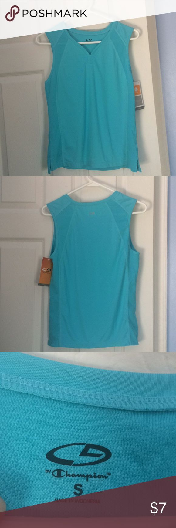 C9 by champion Teal aqua color athletic tank top NWT lightweight quality athletic tank top from C9 by champion in a size small  Fabric makeup is 100% polyester  Bundles and offers are always welcome  HAPPY POSHING POSHERS  FOR SELLER TUB D1 Bag 5 Champion Tops Tank Tops