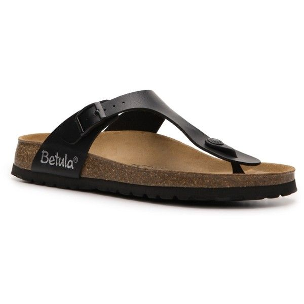 Betula by Birkenstock Rose Flat Sandal (845 MXN) ❤ liked on Polyvore featuring shoes, sandals, styles under $60, flat sandals, betula shoes, flat shoes, rose shoes and betula sandals