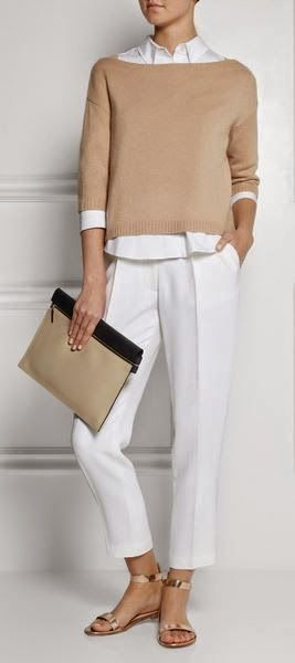 Office outfit | Valentino neutral and white
