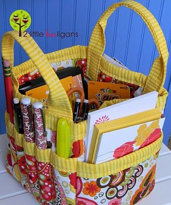 """What a great idea!  A tote bag that holds all the note cards, etc. you need to write thank yous, birthday cards, etc.  Gotta send a card?  Just pick up the tote and it """"hopefully"""" has all you need to get the job done.  Brilliant!"""