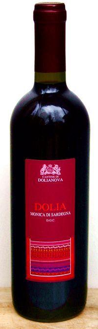 Dolia Monica di Sardegna - 85% Monica, 10% Montepulciano, 5% Barbera sarda  0,75 Liter, 13,00% vol. Enthält Sulfite Intensiv und lang anhaltender Duft nach Waldbeeren und Kirschen.  Warm und umhüllend, am Gaumen kräftiger Körper, fruchtig, grasig, gut eingebundene Säure und weiche Gerbstoffe. Fruchtbetontes, warmer, langer Abgang. www2.tiposarda.de/angebote/64/dolia-monica-di-sardegna-doc-2010