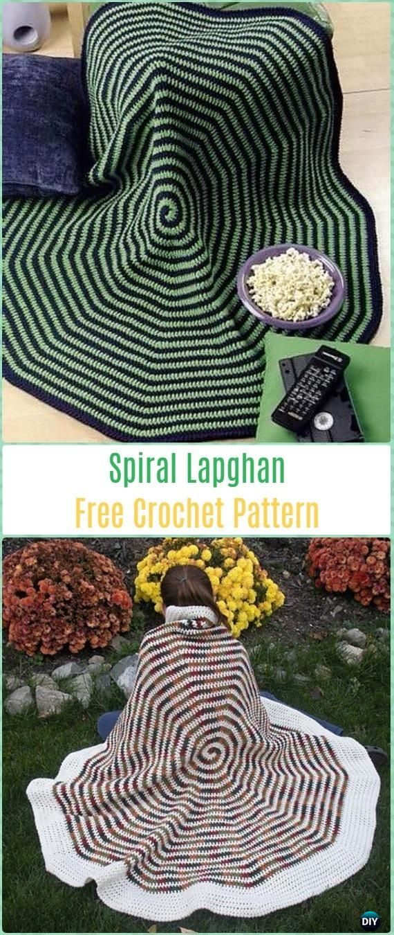 Crochet Spiral Lapghan Free Pattern-Crochet Circle Blanket Free Patterns