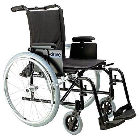 Drive Medical Cougar Ultra Lightweight Wheelchair w Detachable Adj Desk Arms and Foot Rest 18 Inch - 1 ea