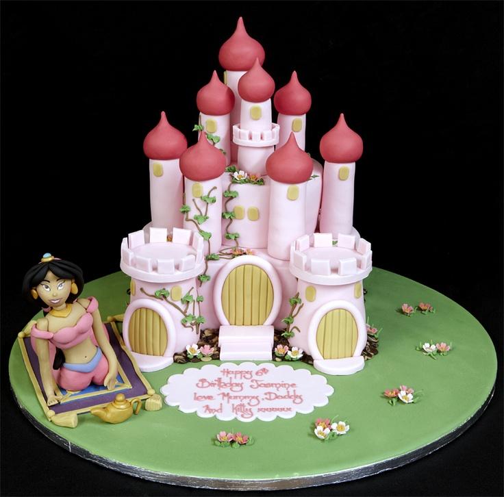 003057 Novelty Castle with Hand-Made Sugarpaste Jasmin Model Birthday Cake.jpg 811×800 pixels