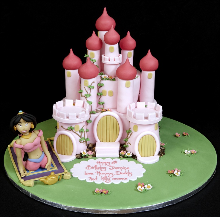 003057 Novelty Castle with Hand-Made Sugarpaste Jasmin Model Birthday Cake.jpg 811×800 pixels