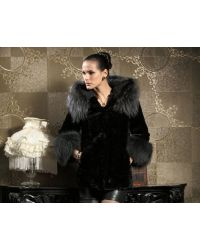 Ladies genuine fur coat