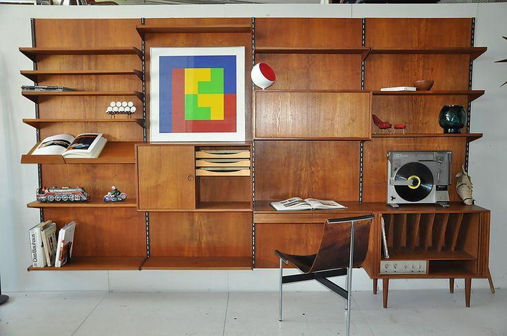 Kai Kristiansen FM Denmark Danish Teak Regal Regalystem Sideboard Büro Wohnwand in Antiquitäten & Kunst, Design & Stil, 1960-1969 | eBay