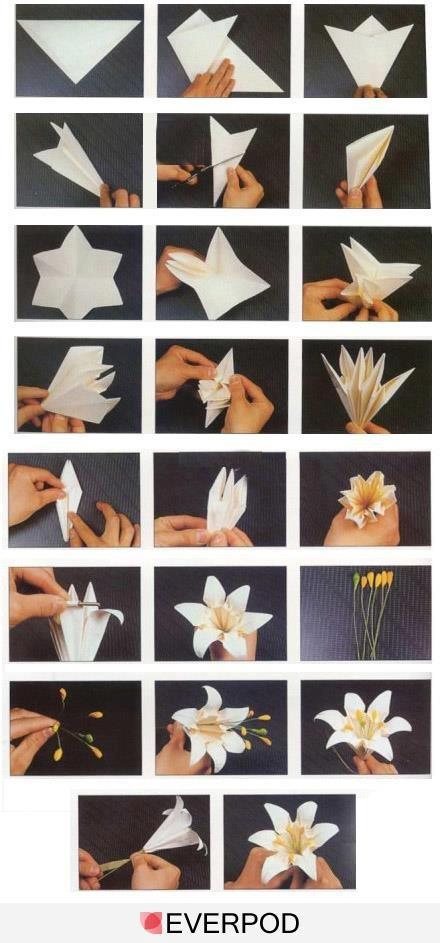 κρίνοι από χαρτί