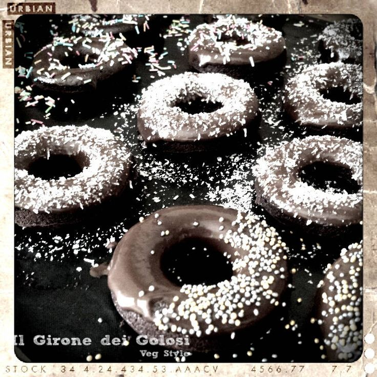 Donut al forno vegan