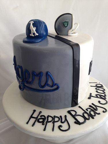 Dodgers Raiders Split Cake Men S Birthday Pinterest