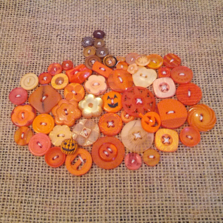 Wendys Hat: Pumpkin Button Picture {Sewing}