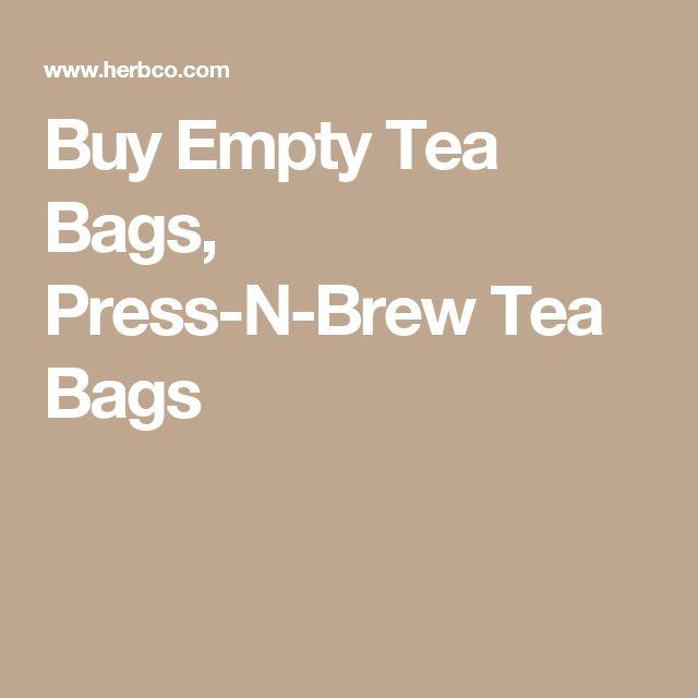 Buy Empty Tea Bags, Press-N-Brew Tea Bags