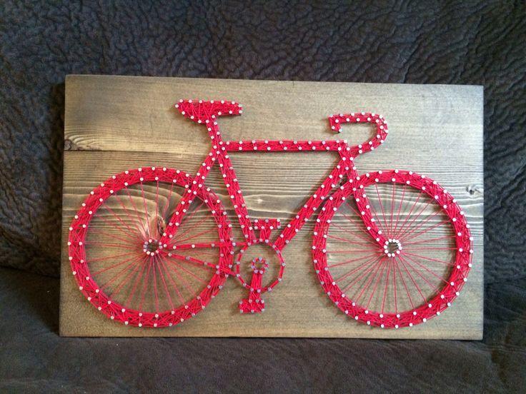Bicycle string art (Bike)- Order from KiwiStrings on Etsy! ( www.KiwiStrings.etsy.com )