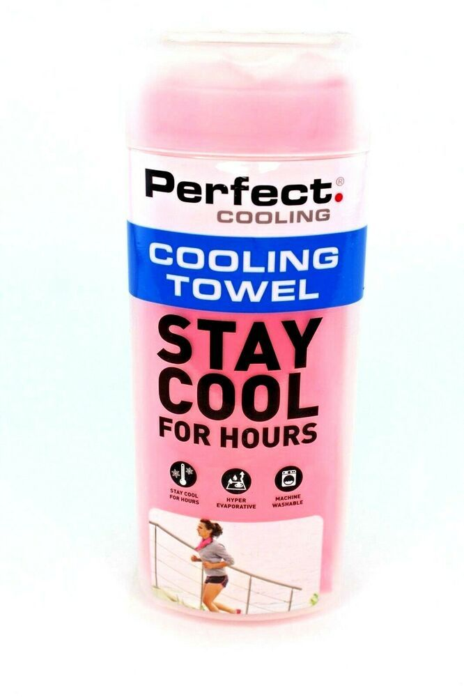 Perfect Fitness Cooling Towel Pink Stay Cool For Hours Machine