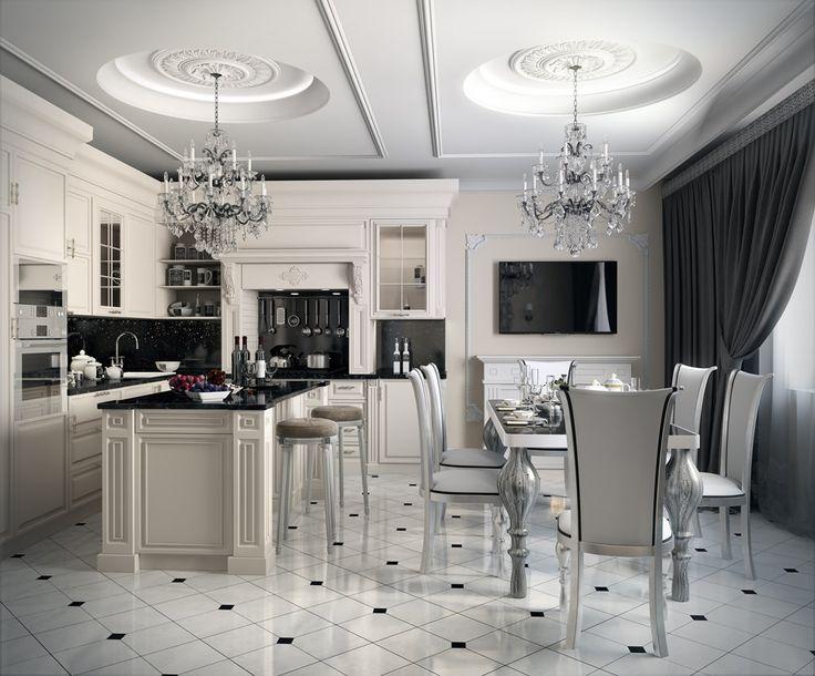 Интерьер кухни в стиле арт-деко: 55 вариантов дизайна, фото-7