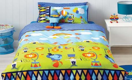 Circus Fun Quilt Cover Set by Cubby House Kids - kids bed linen online Australia