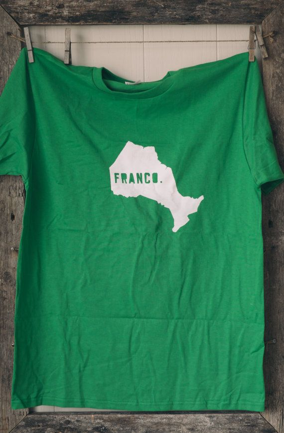 Tshirt francoontarien pour hommes Men's by AnickBauer on Etsy, $22.00